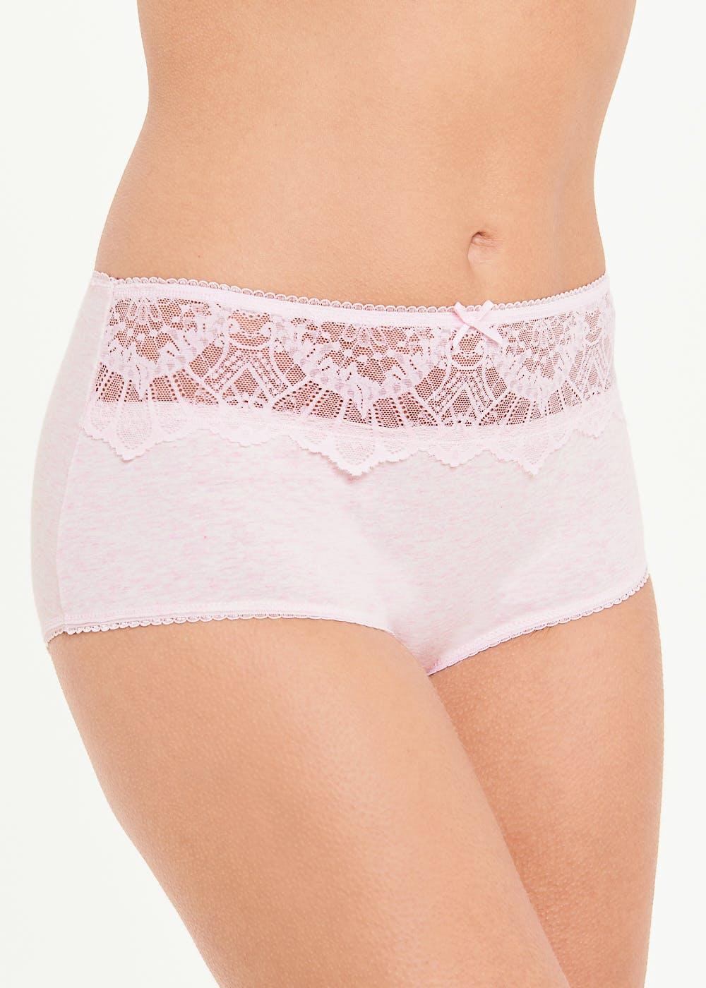3 Pack Scallop Lace Full Knickers – Multi