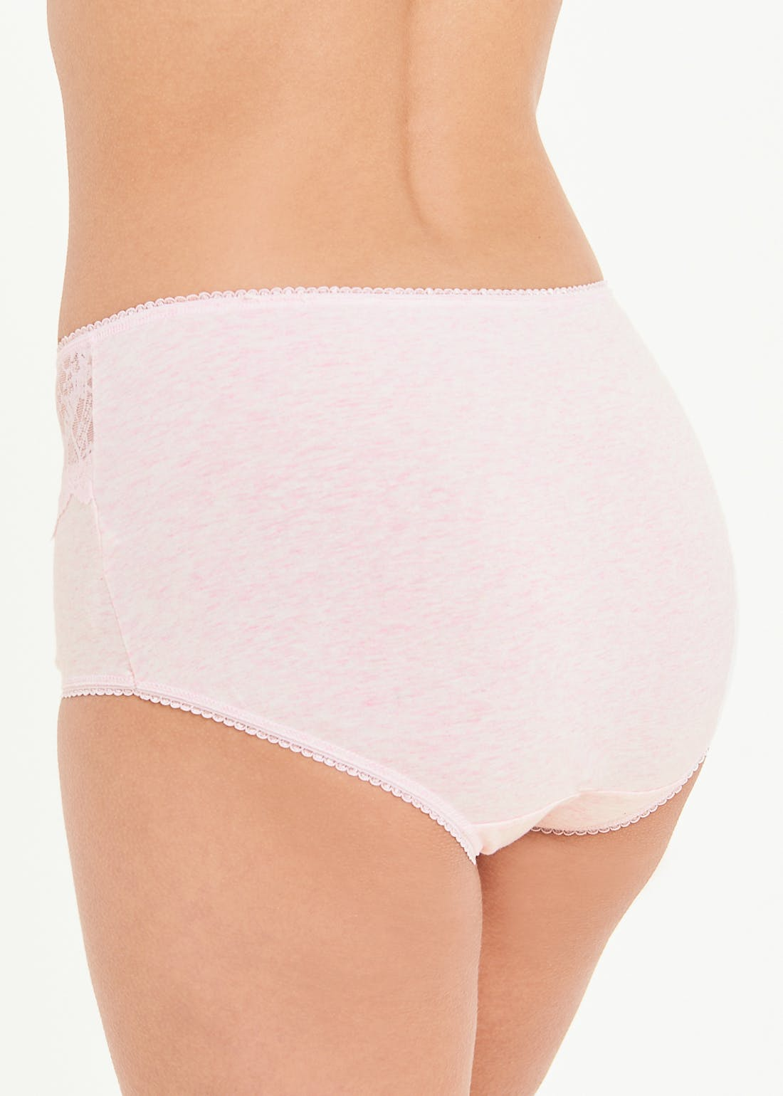 3 Pack Scallop Lace Full Knickers