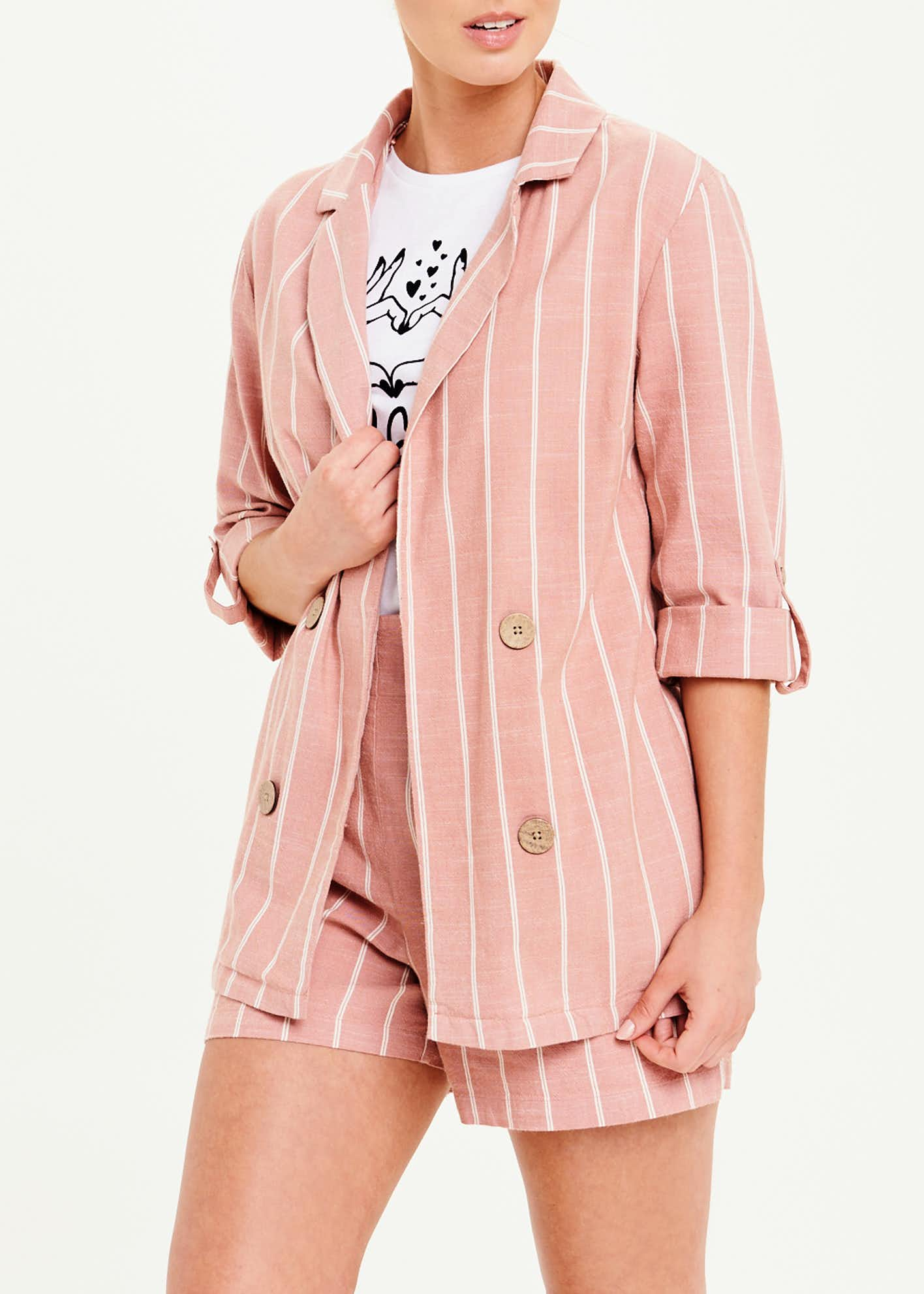 Stripe Co-Ord Blazer