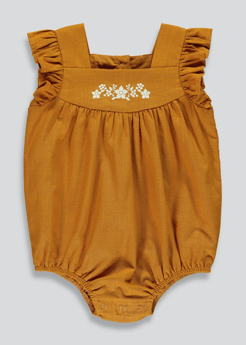 Ochre cotton romper