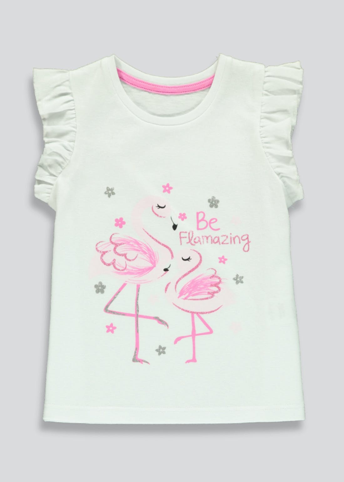 Girls Flamingo T-Shirt (9mths-6yrs)