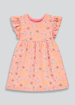 Girls Rainbow Jersey Dress (9mths-6yrs)