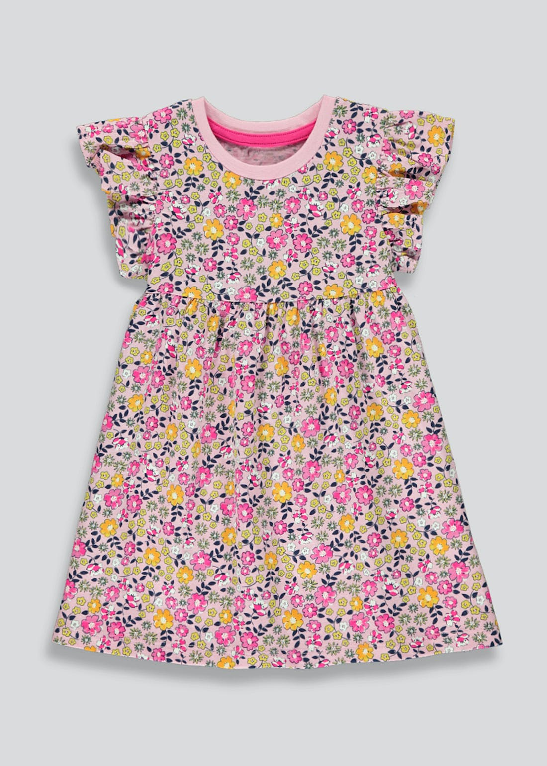 Girls Floral Jersey Dress (9mths-6yrs)
