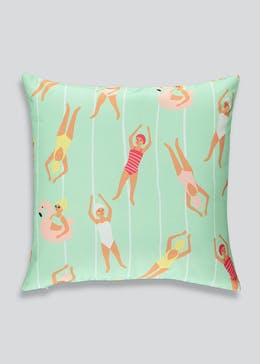 Swimmers Outdoor Scatter Cushion (43cm x 43cm)