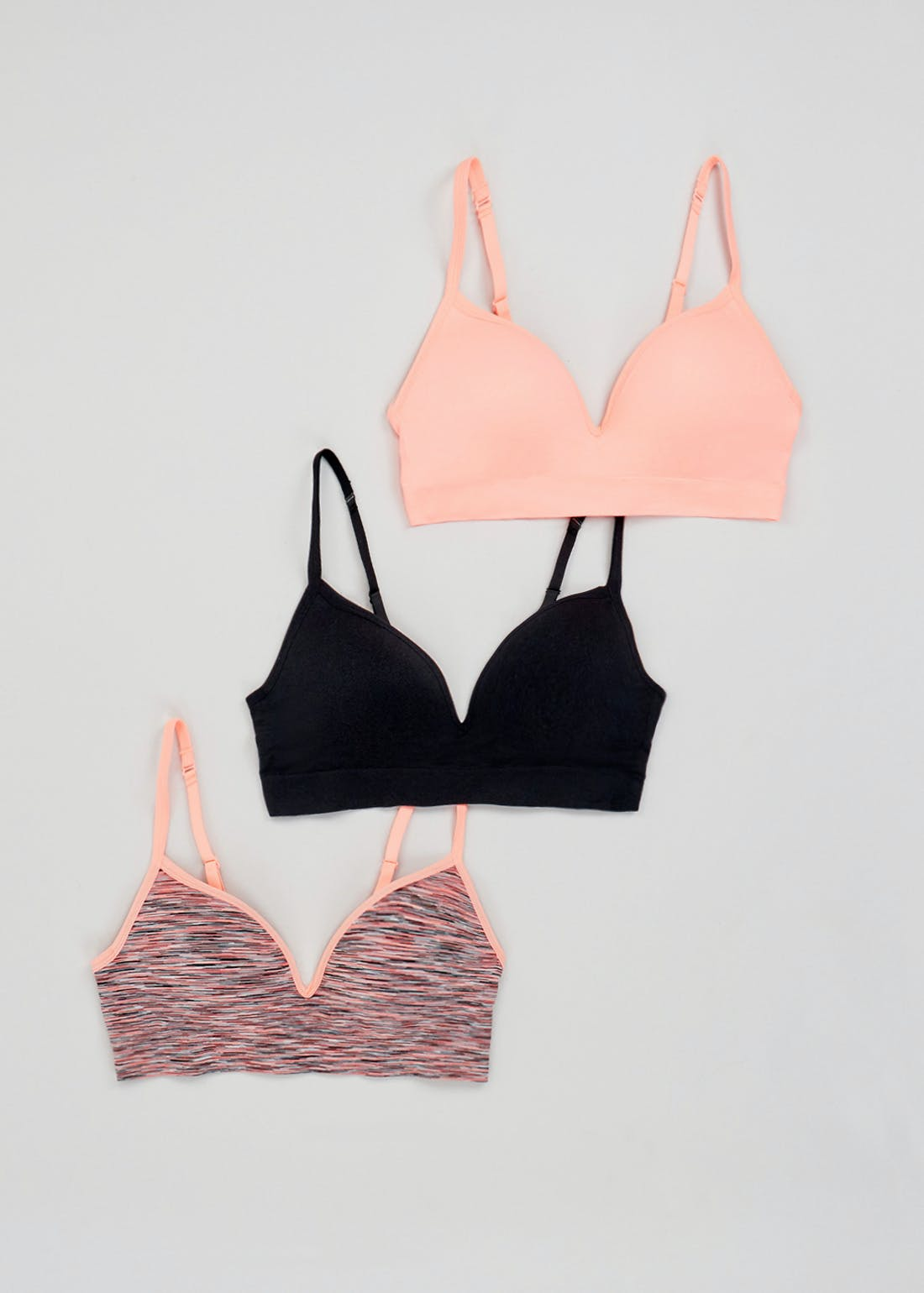 3 Pack Seam Free Moulded Crop Tops