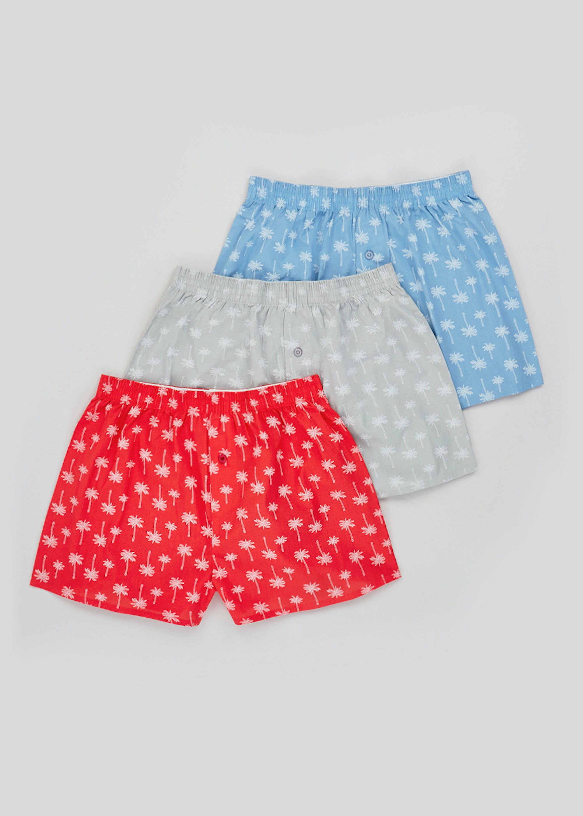 3 Pack Button Front Boxers Multi WzfADf