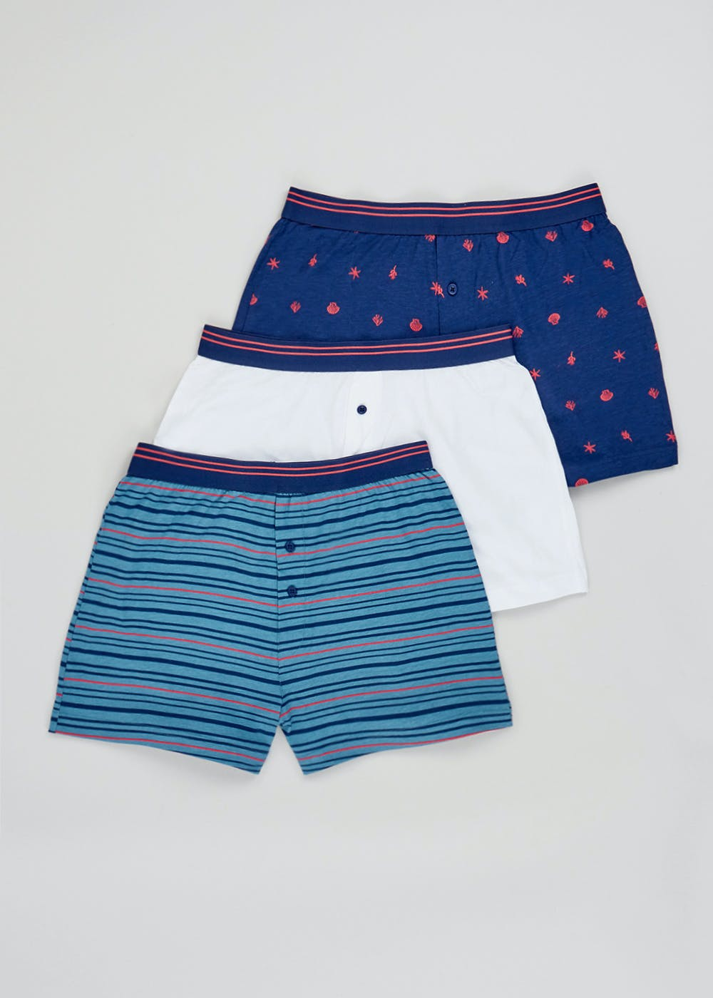 3 Pack Loose Fit Boxers – Multi