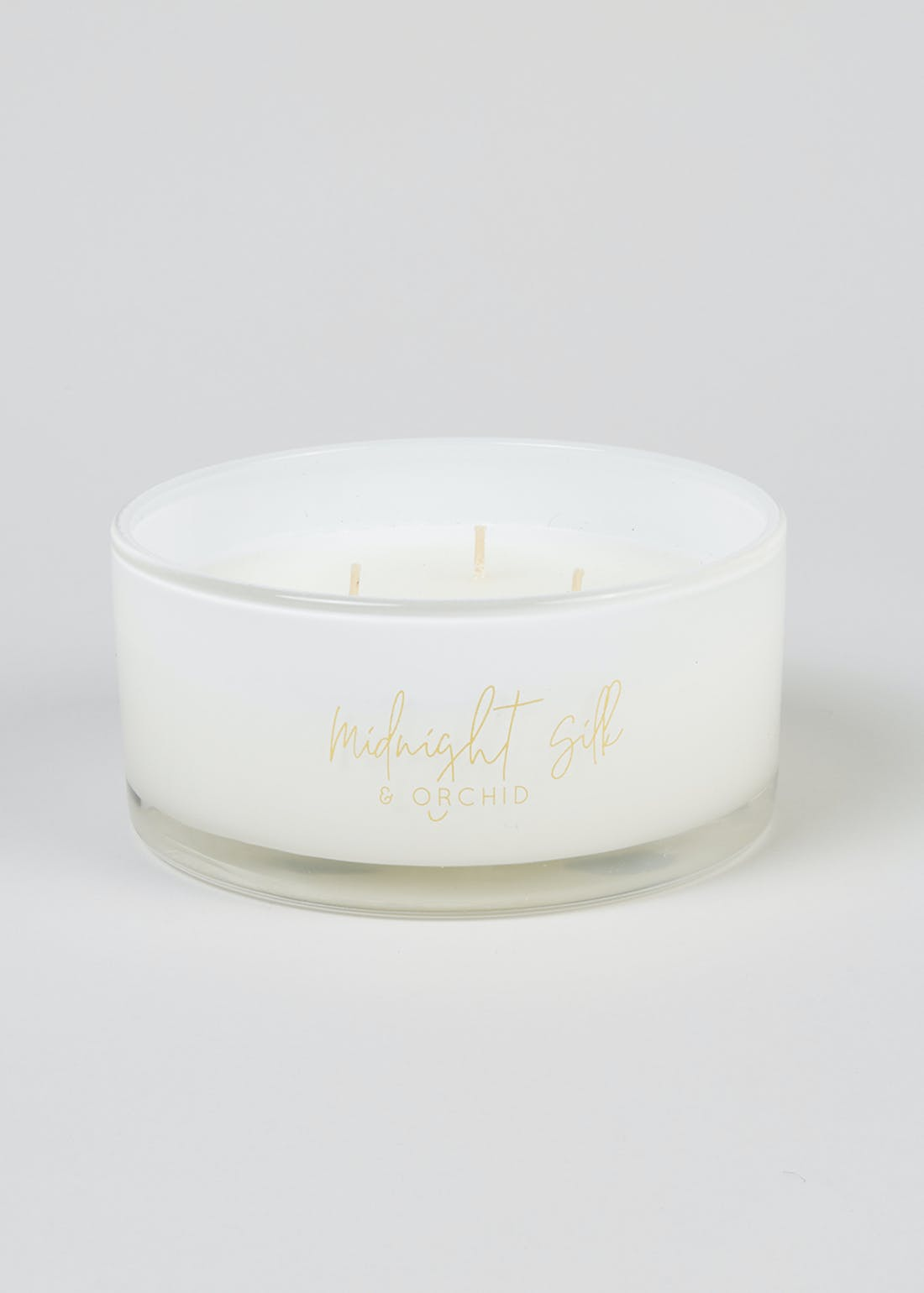 Midnight Silk & Orchid Luxury Candle (16cm x 7.5cm)