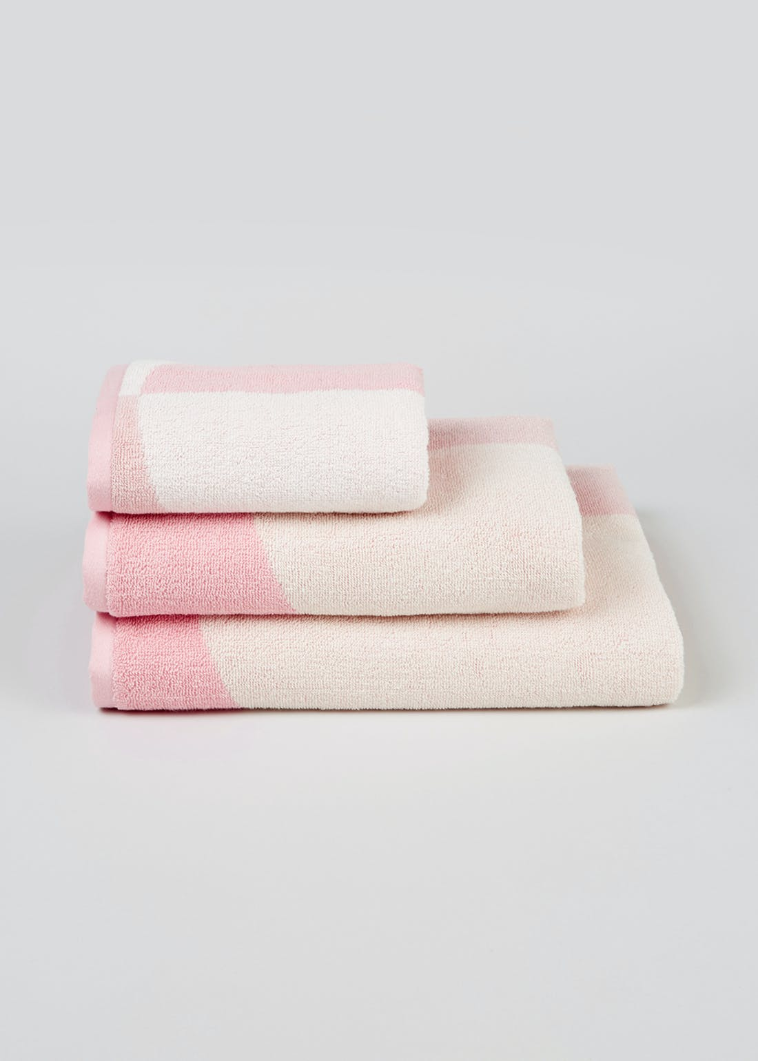 100% Cotton Circle Block Towels