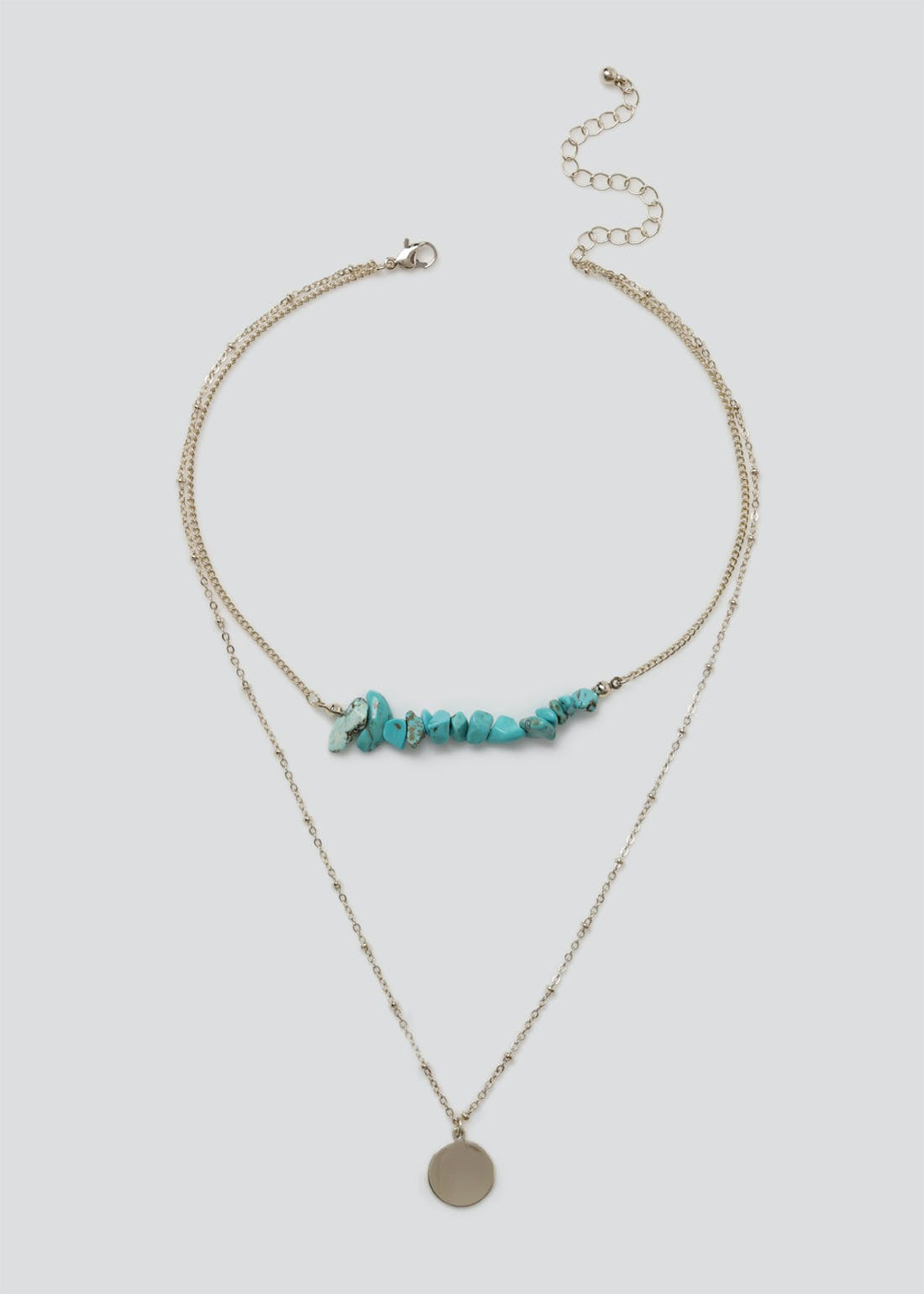 Chippings Layered Choker Necklace