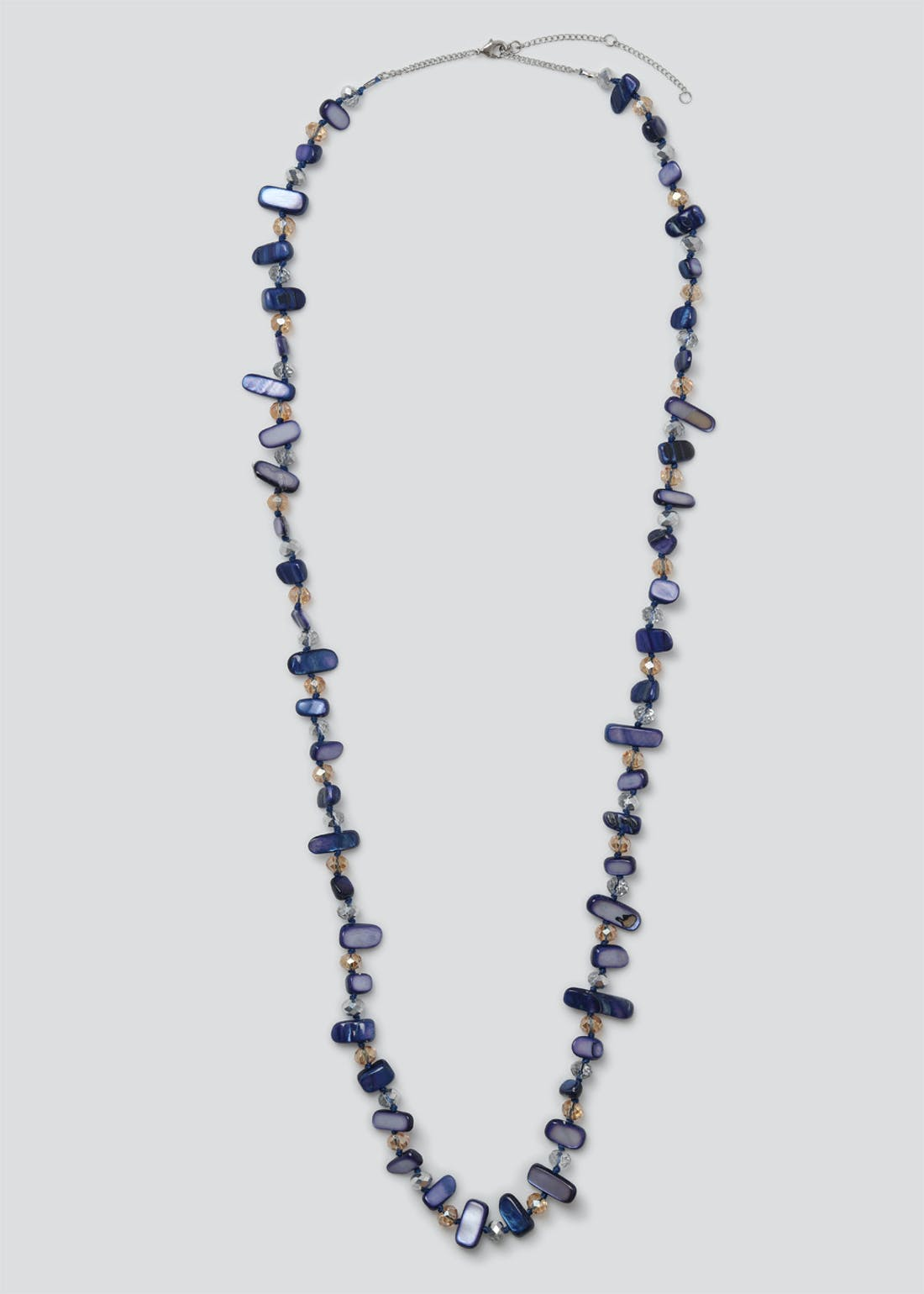 Shell Effect Facet Long Necklace