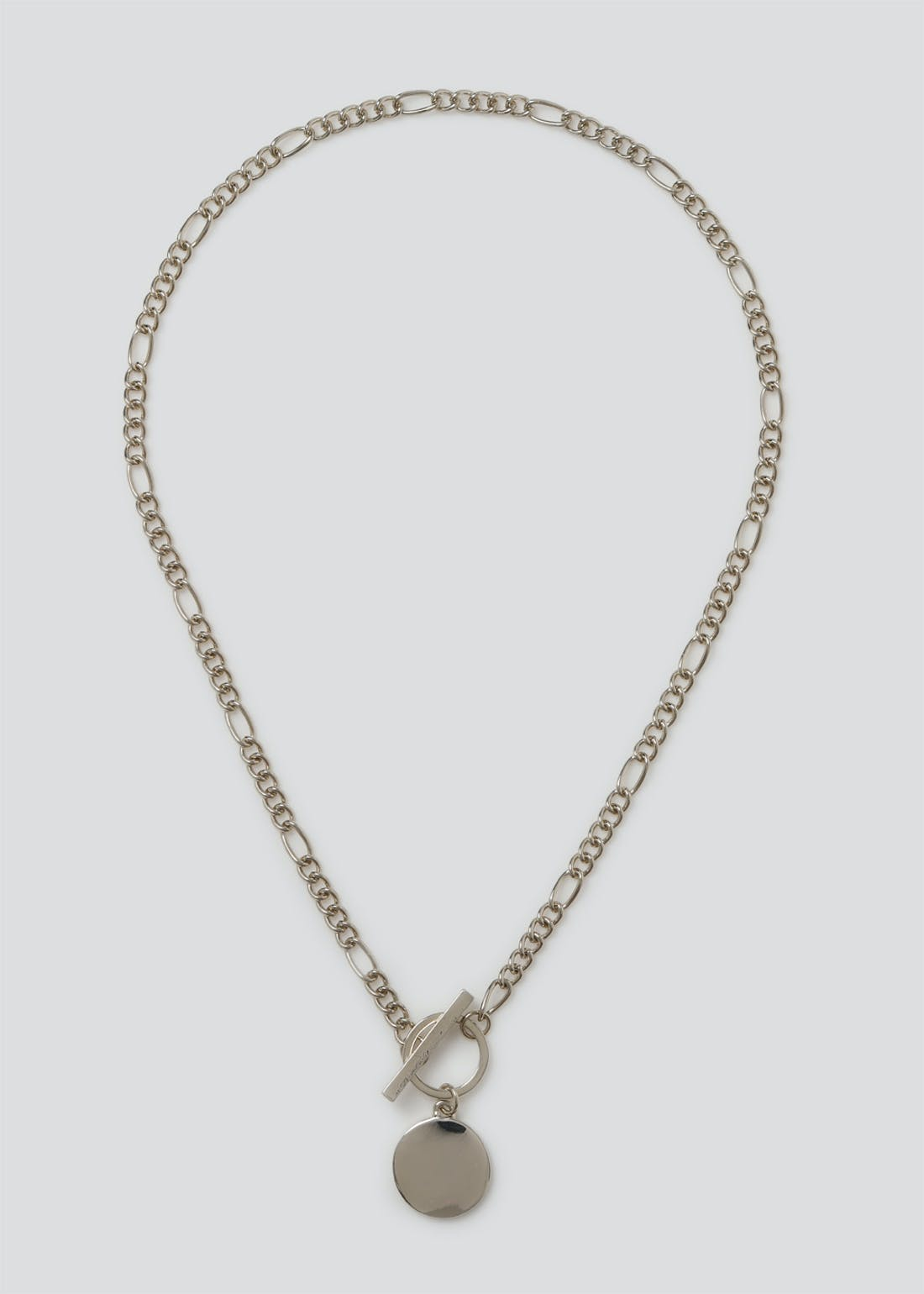 T Bar Clean Disc Chain Necklace