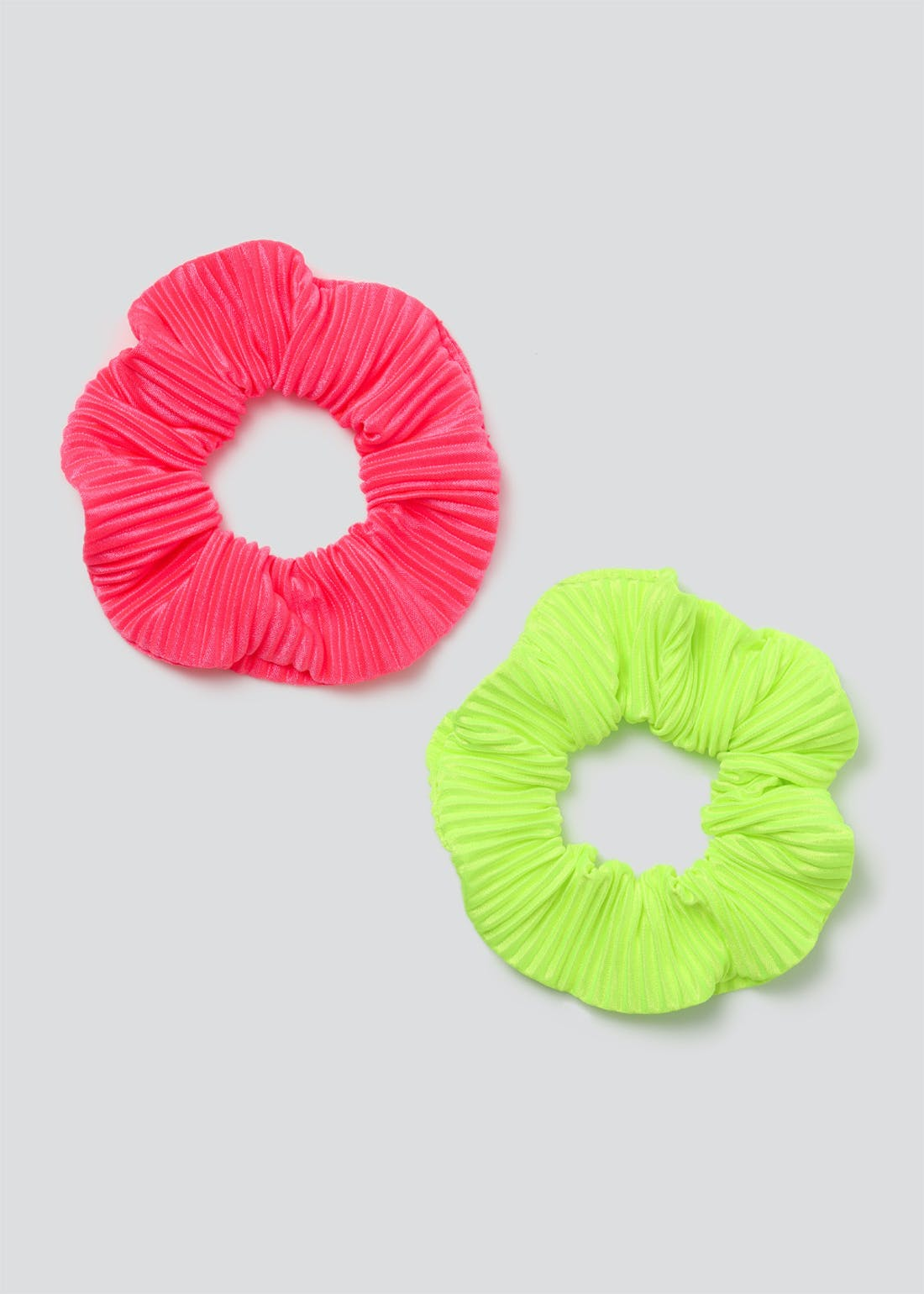 2 Pack Pleated Scrunchies