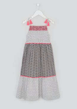 Girls Heart Print Maxi Dress (4-13yrs)