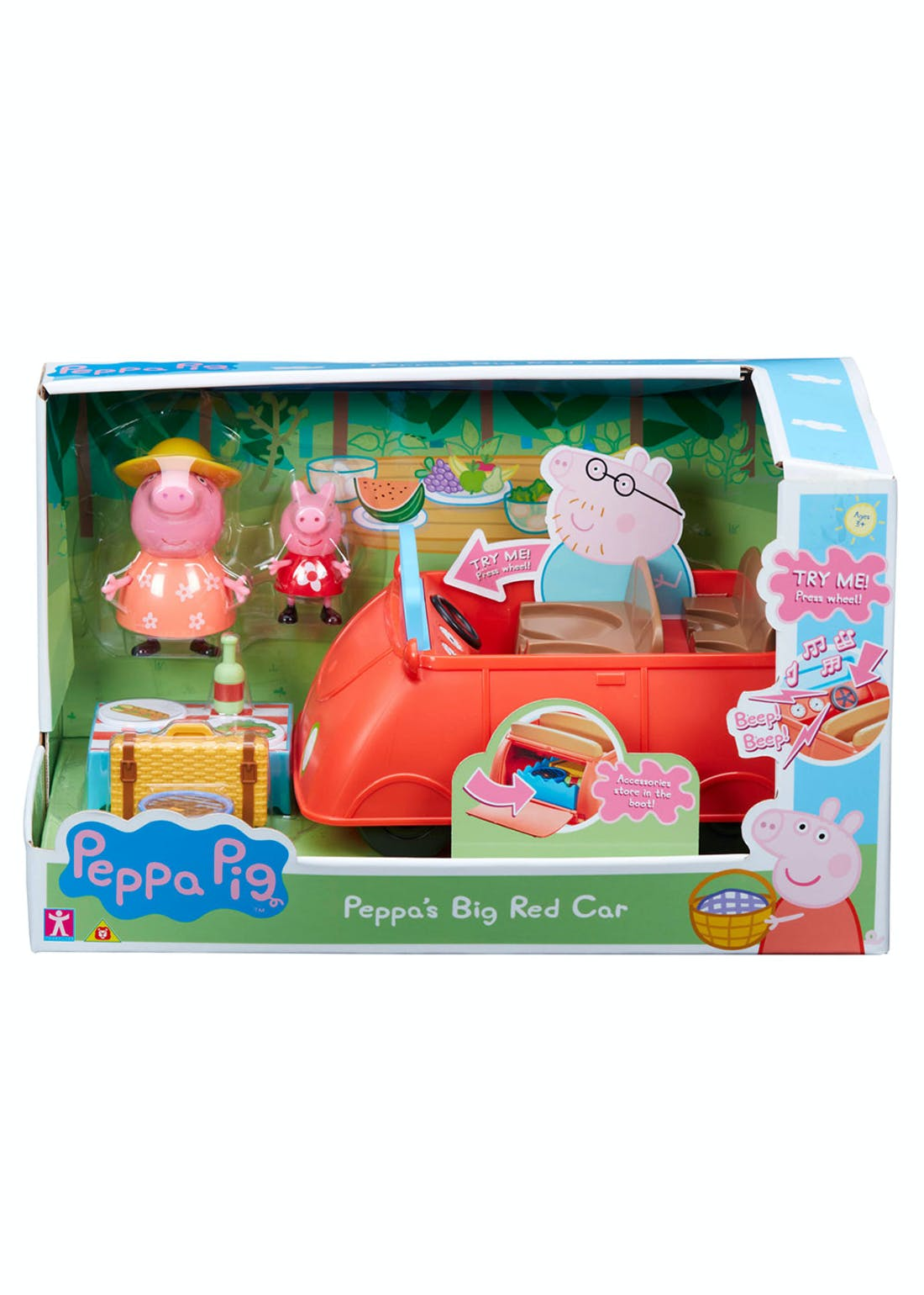 Peppa Pig Big Red Car (32.5cm x 1.58cm x 18cm)