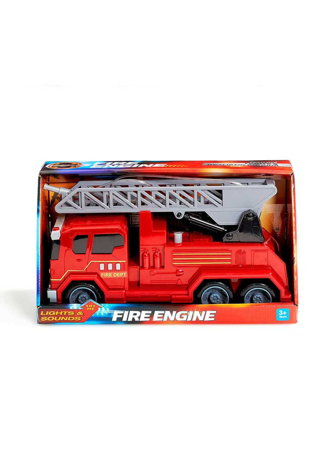 Friction Lights and Sounds Fire Truck (39cm x 21cm x 15cm)