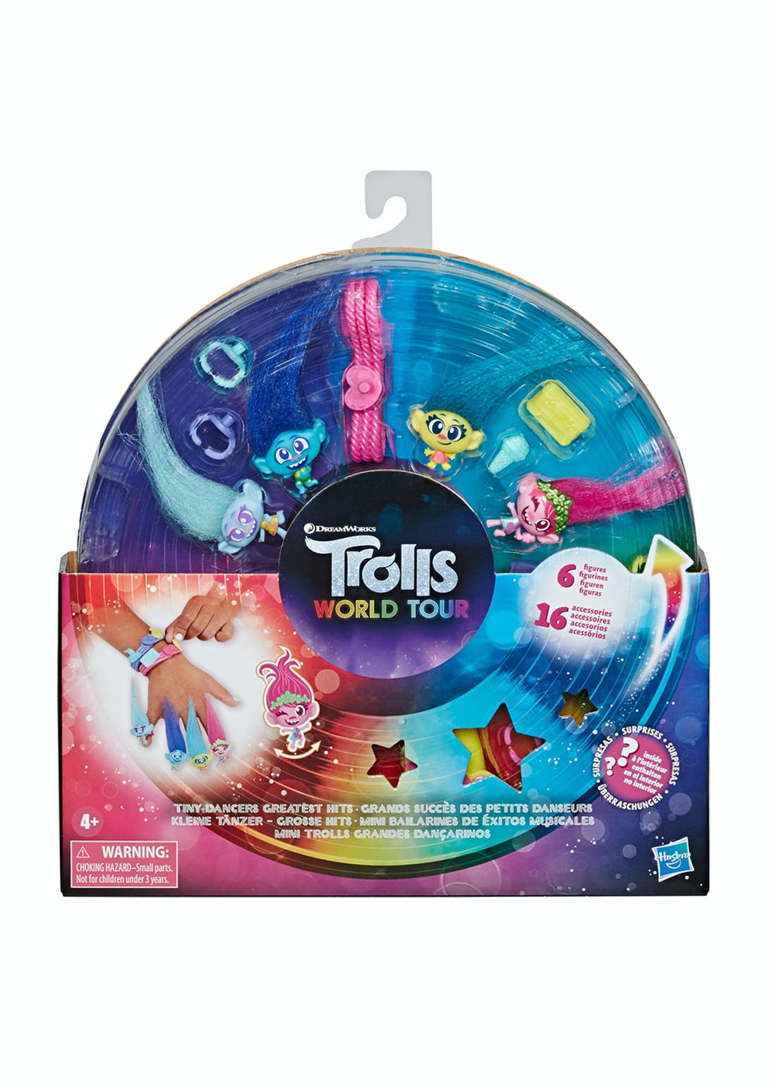 Trolls World Tour Tiny Dancers Figure Set (26cm x 23.5cm x 3.5cm)
