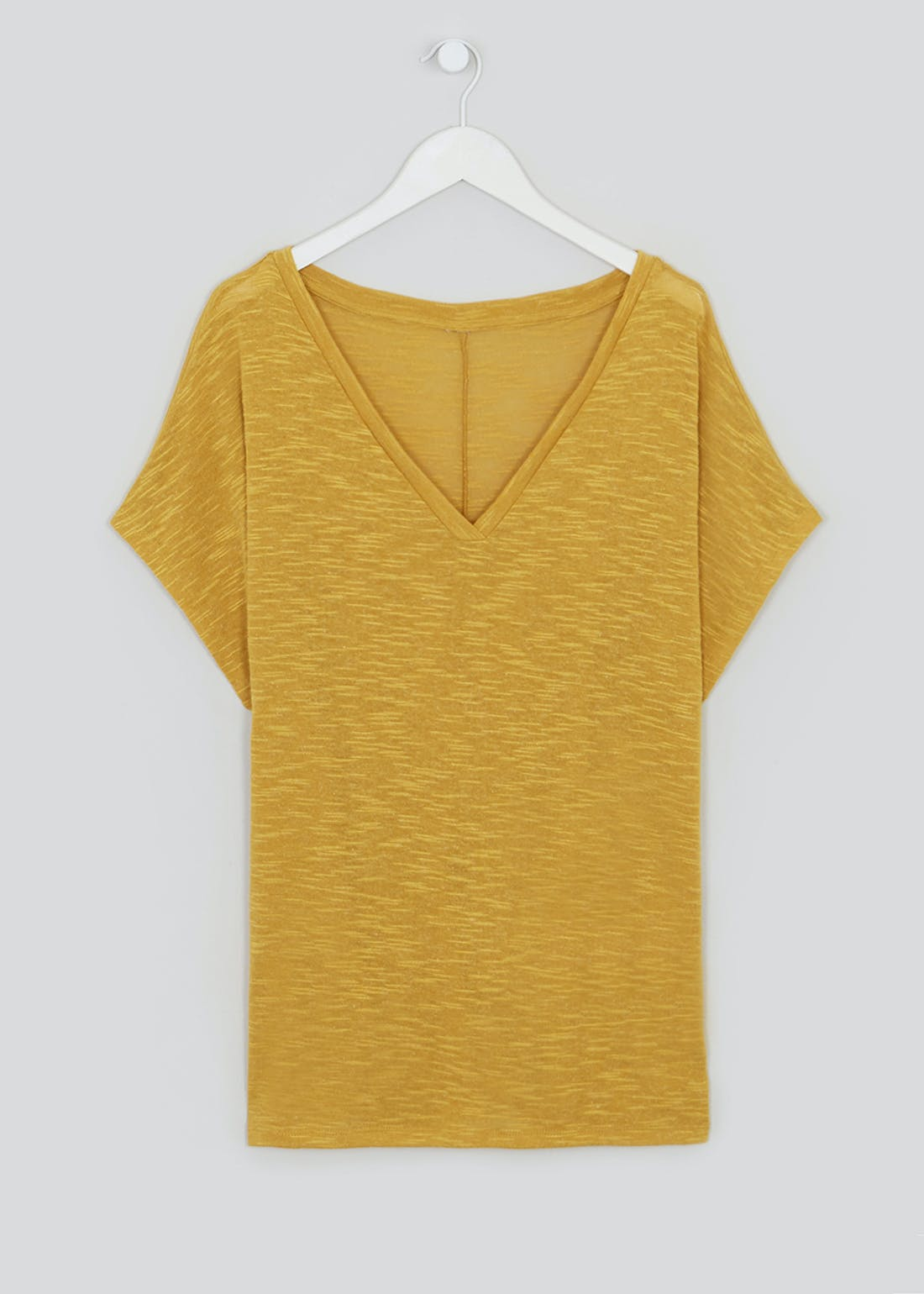 Papaya Curve V-Neck T-Shirt