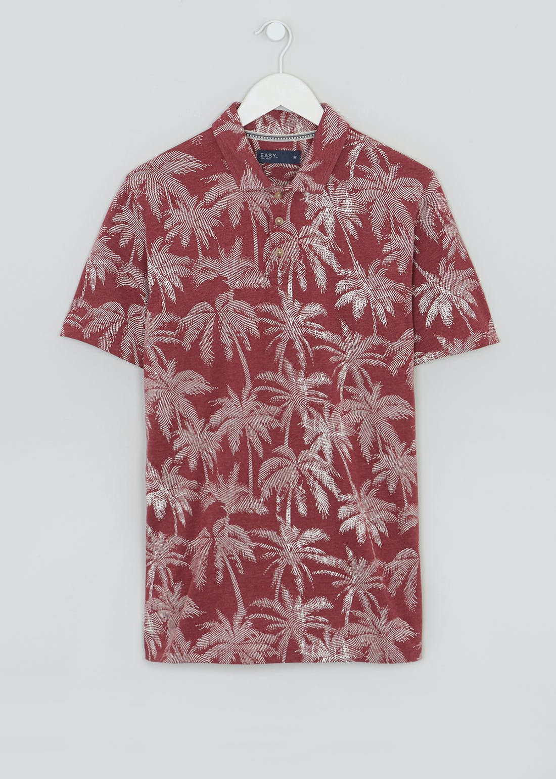Big & Tall Palm Print Short Sleeve Jersey Shirt