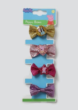 Girls Peppa Pig Glitter Bows