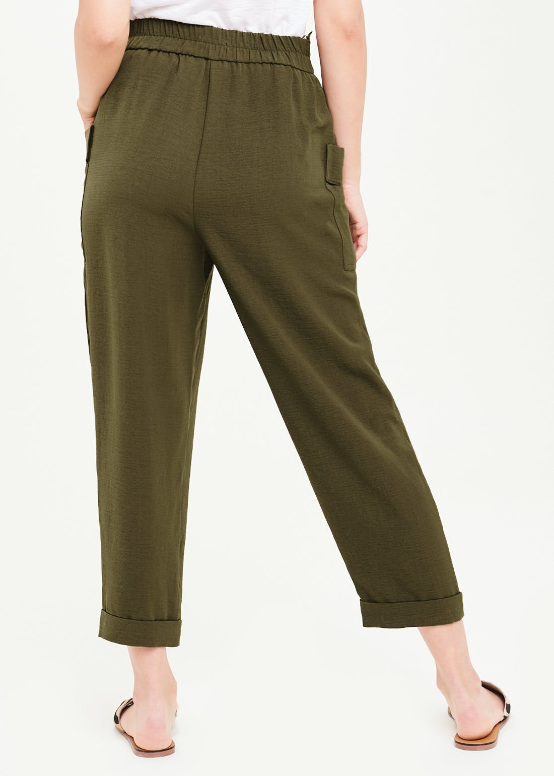 Buckle Tapered Trousers