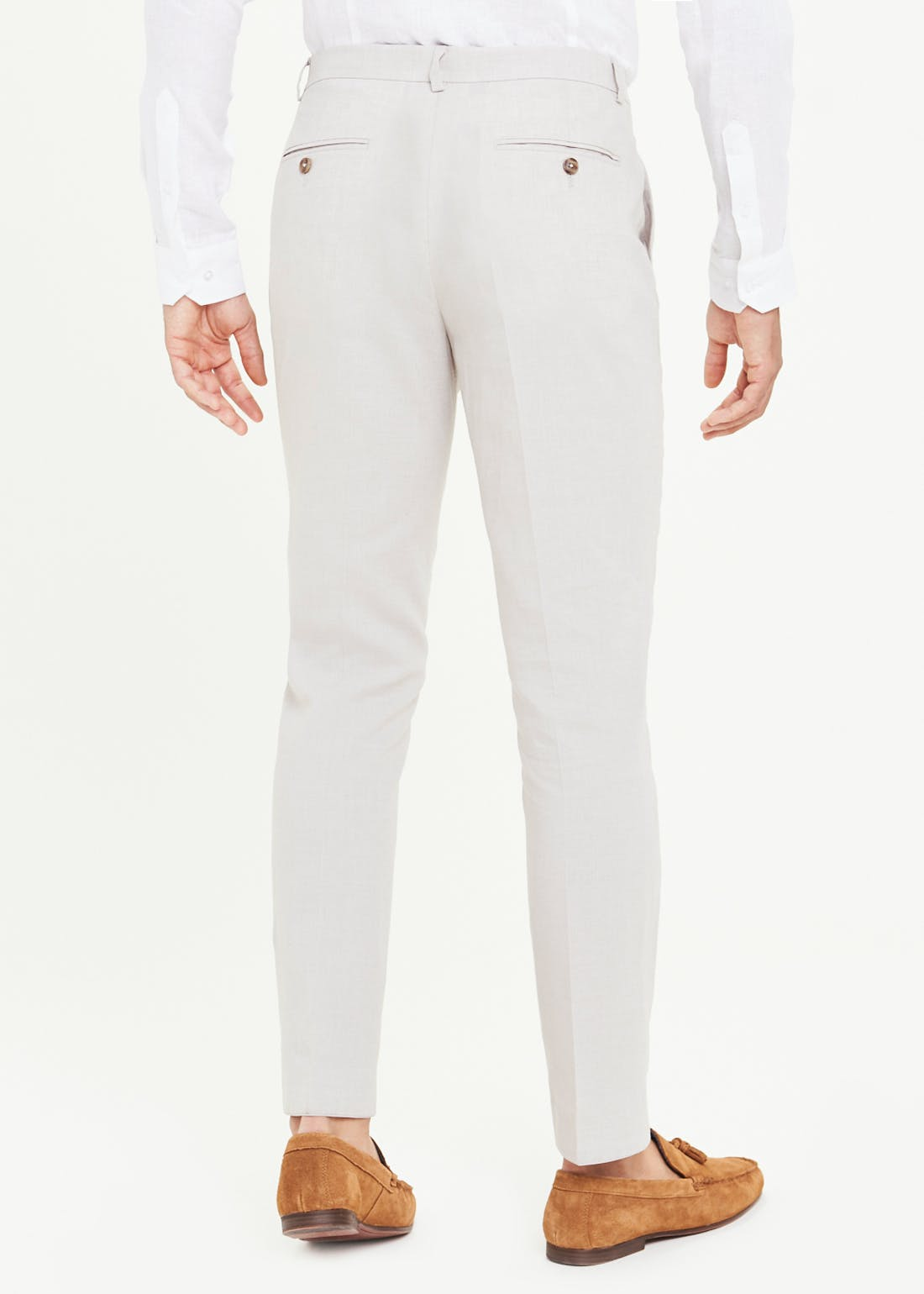Taylor & Wright Moss Slim Fit Linen Suit Trousers