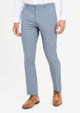 Taylor & Wright Blane Skinny Fit Check Suit Trousers