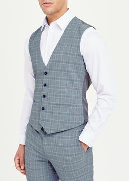 Taylor & Wright Blane Skinny Fit Check Suit Waistcoat