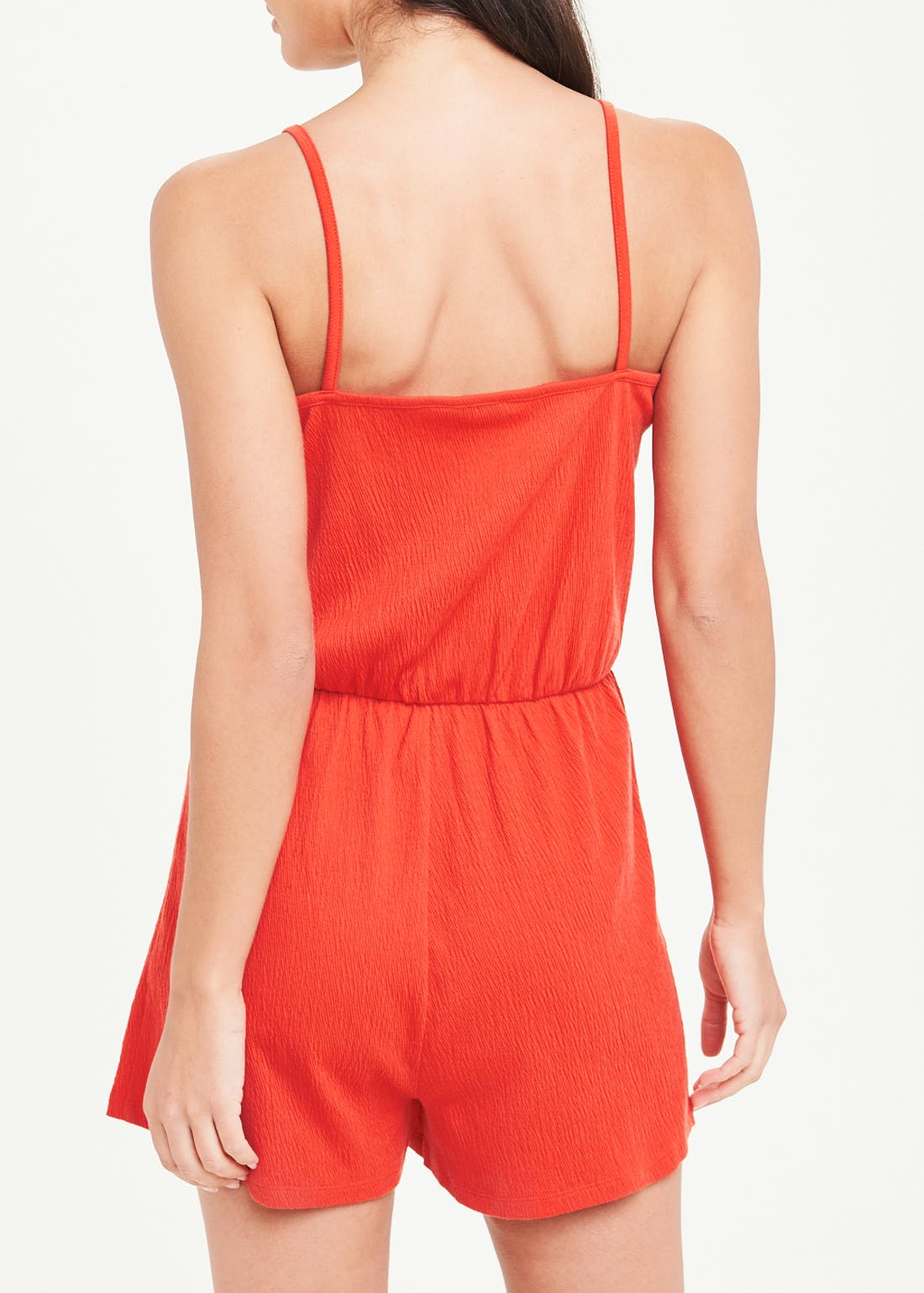 Crinkle Wrap Front Playsuit