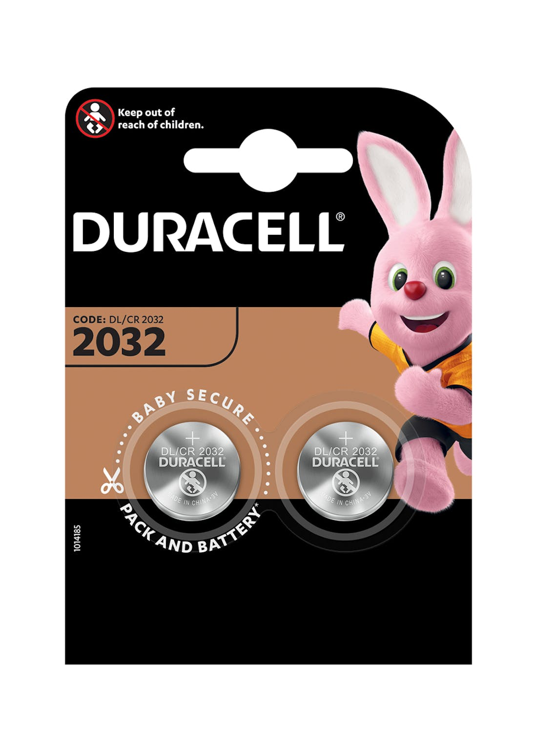 2 Pack Duracell CR2032 Coin Cell Batteries