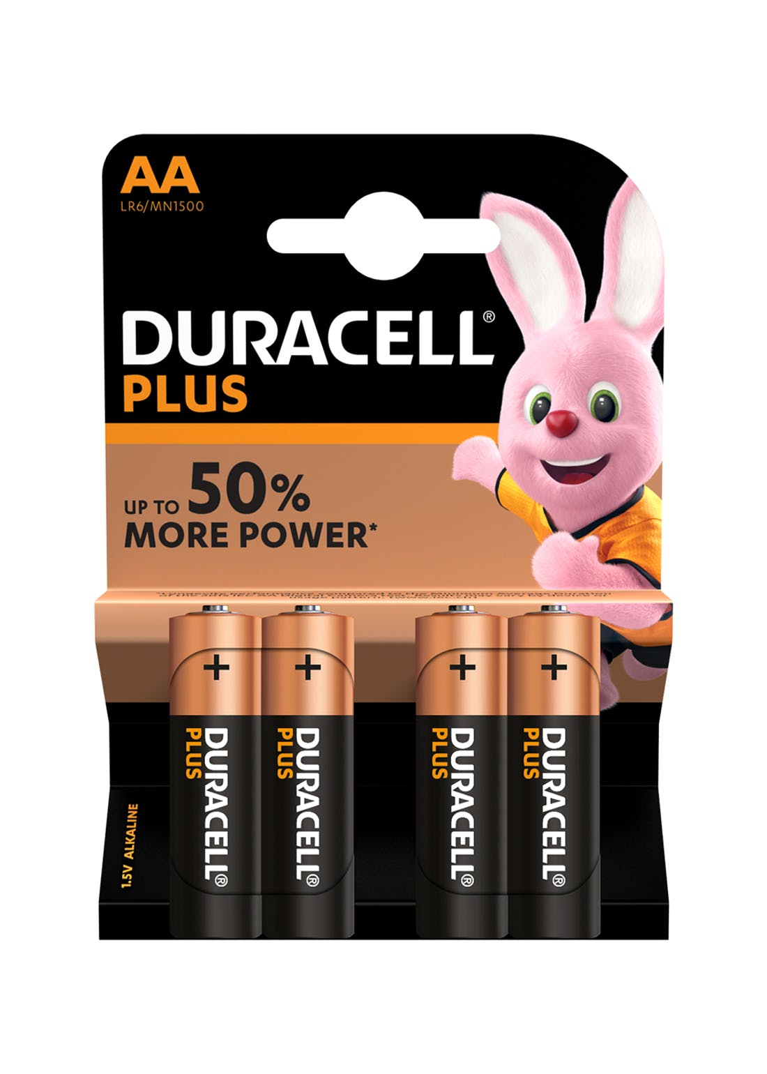 4 Pack Duracell Plus AA Batteries