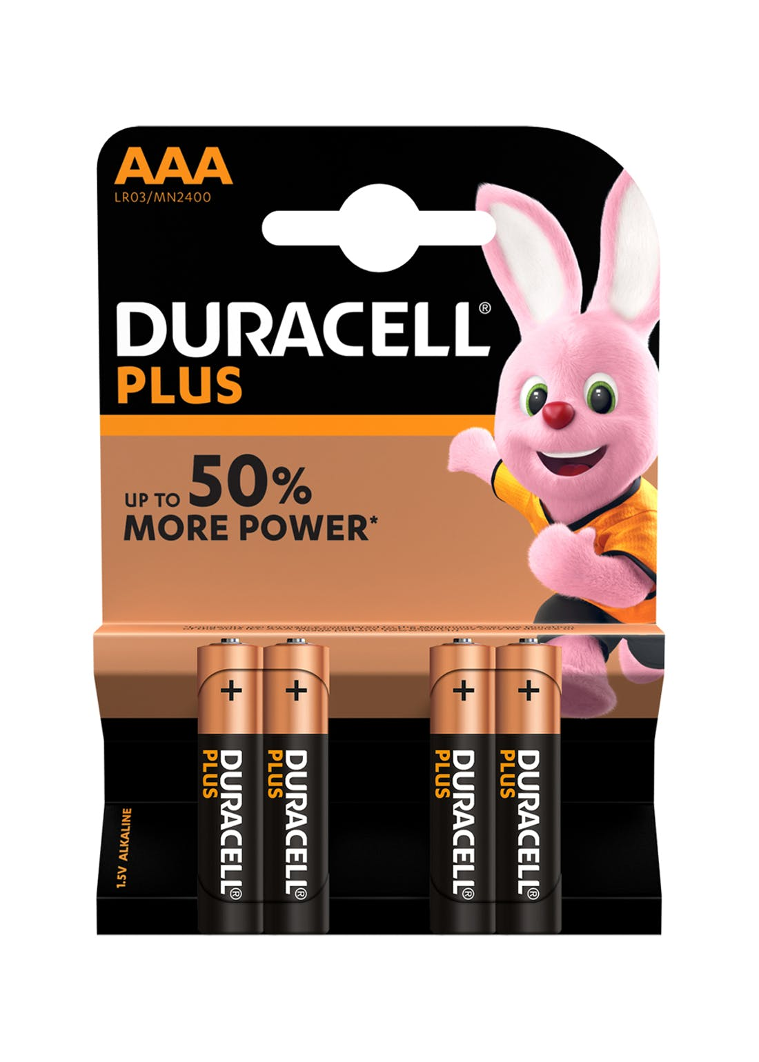 4 Pack Duracell Plus AAA Batteries