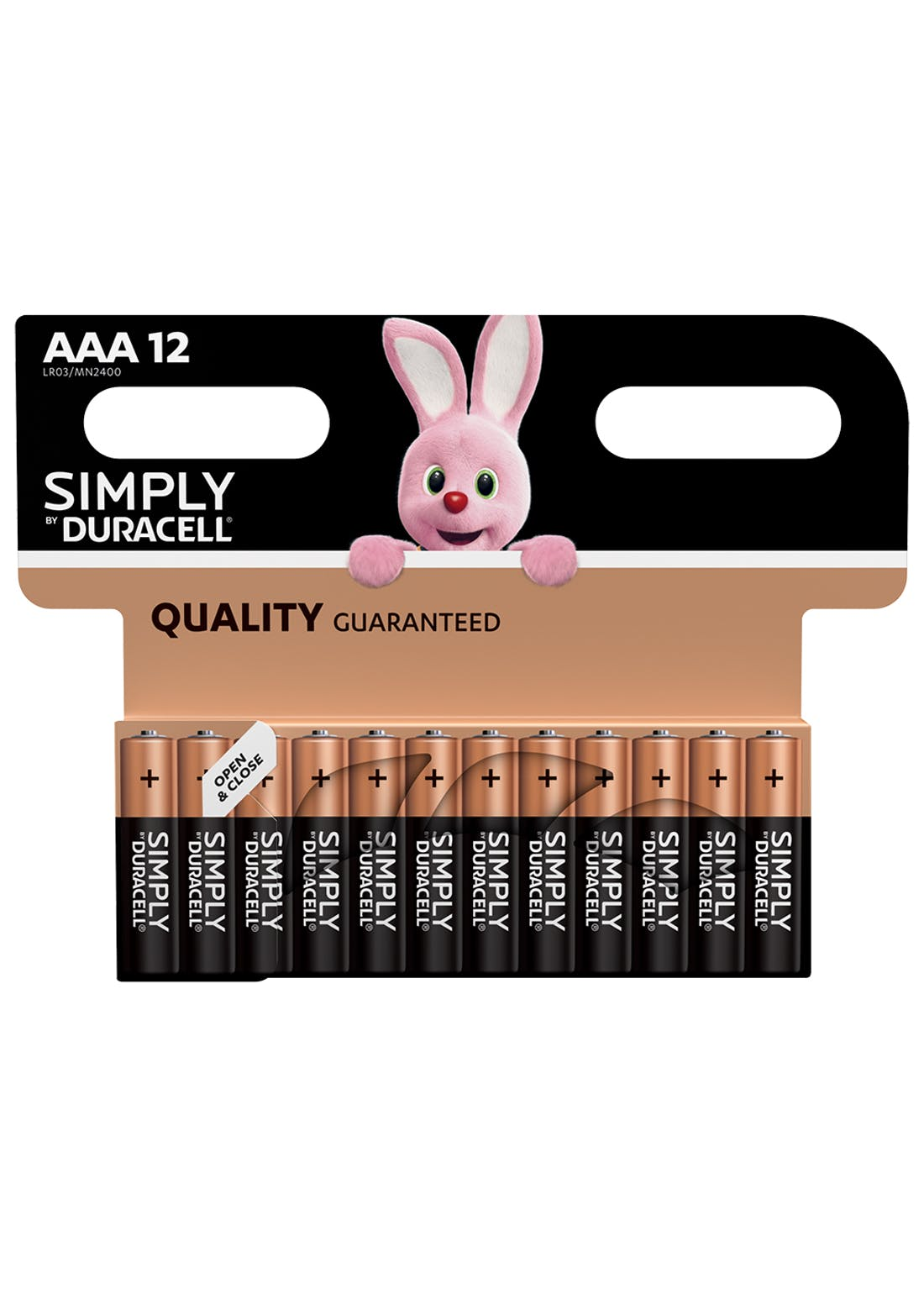 12 Pack Duracell Simply AAA Batteries