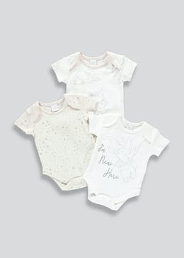 Unisex 3 Pack Disney Dumbo Bodysuits (Newborn-12mths)