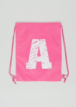 Kids Alphabet Drawstring Pump Bag