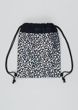 Kids Leopard Print Drawstring Pump Bag