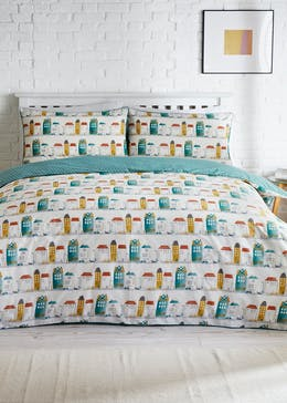 Reversible House Print Duvet Cover