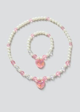 Girls Beaded Necklace & Bracelet Set