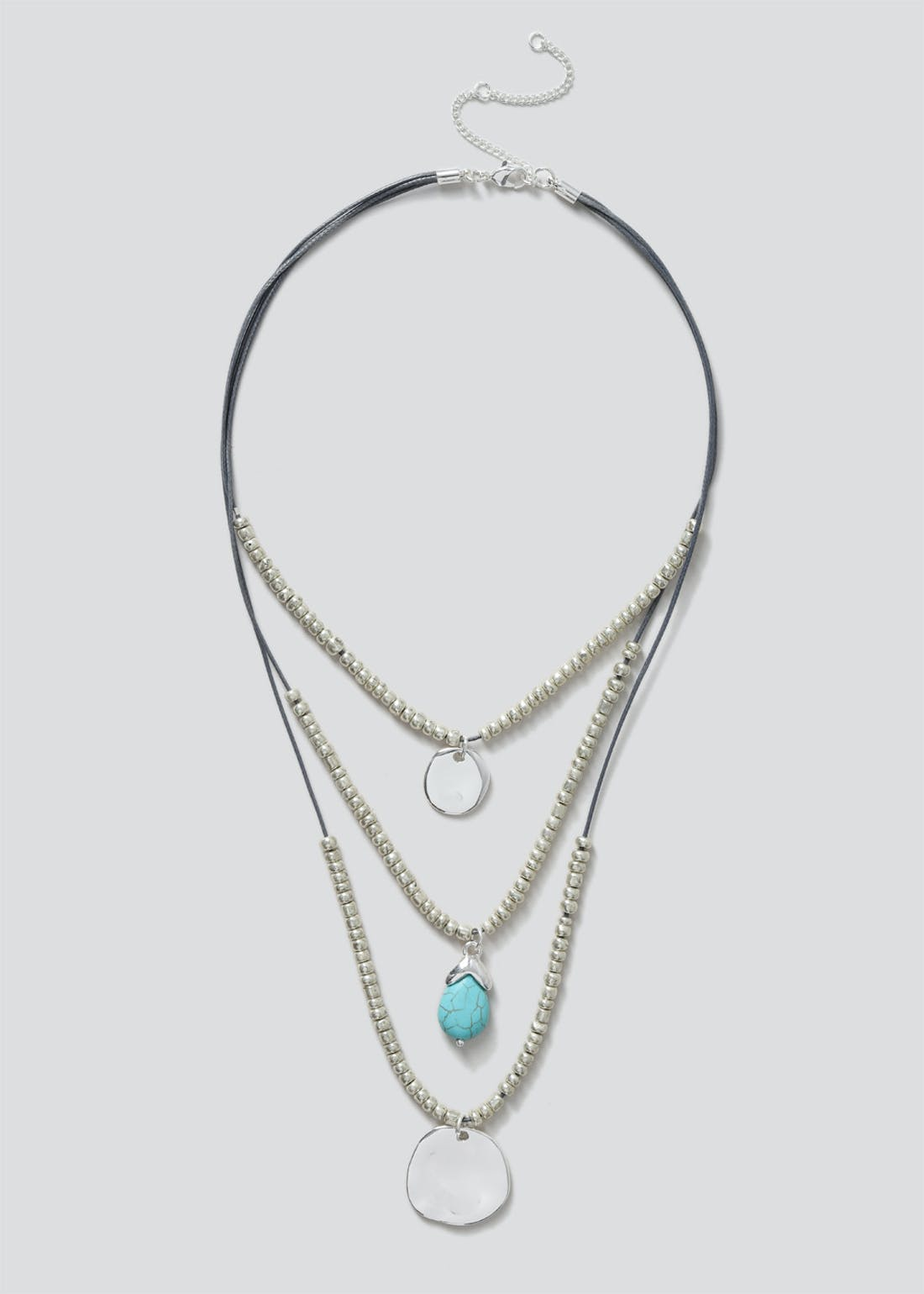 Cord Triple Row Necklace