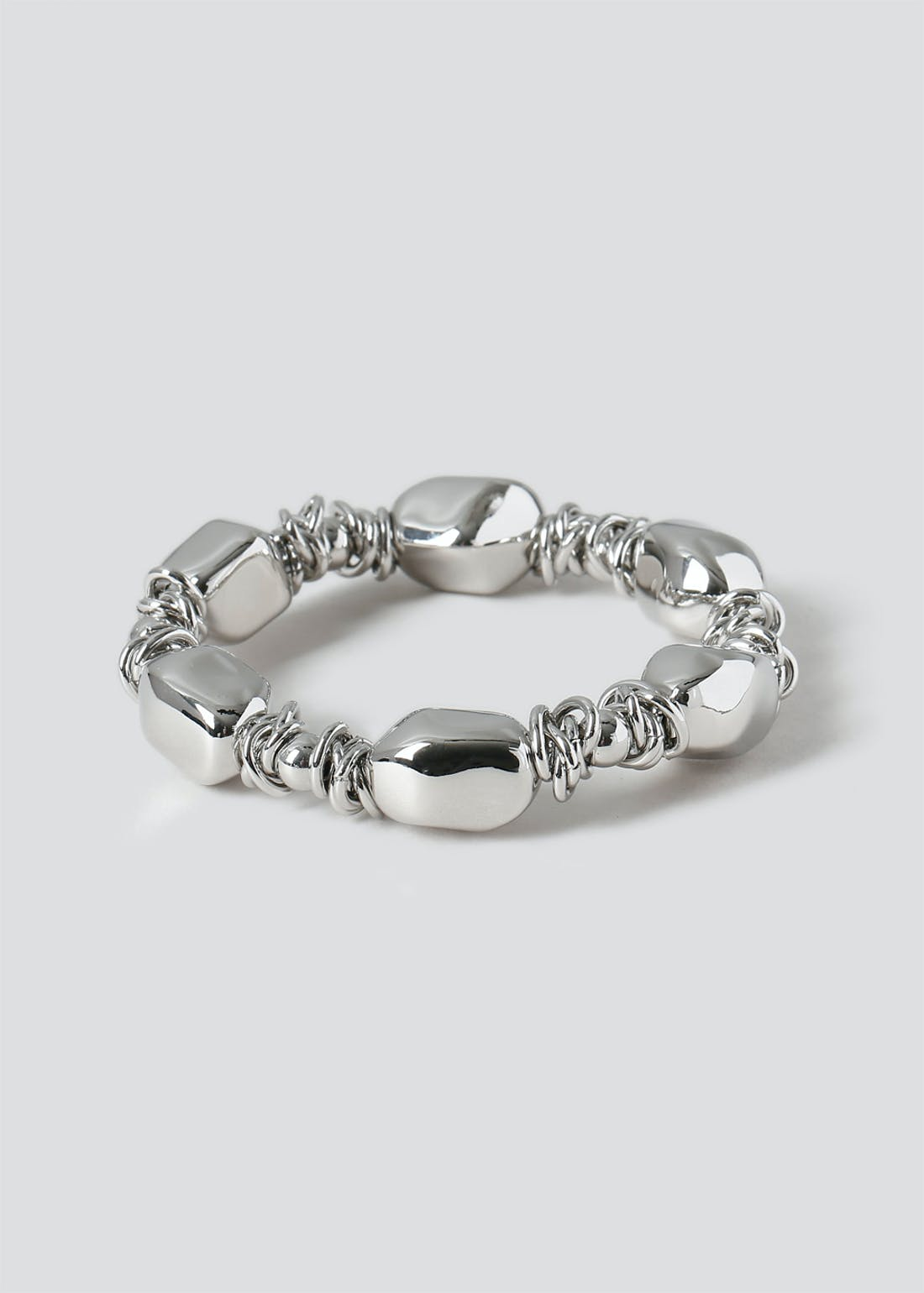 Multi Link Pebble Stretch Bracelet
