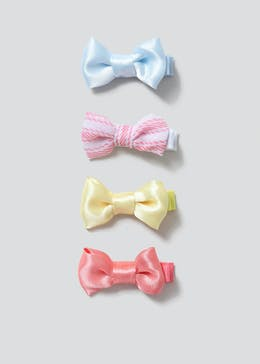 Girls 4 Pack Bow Hair Clips