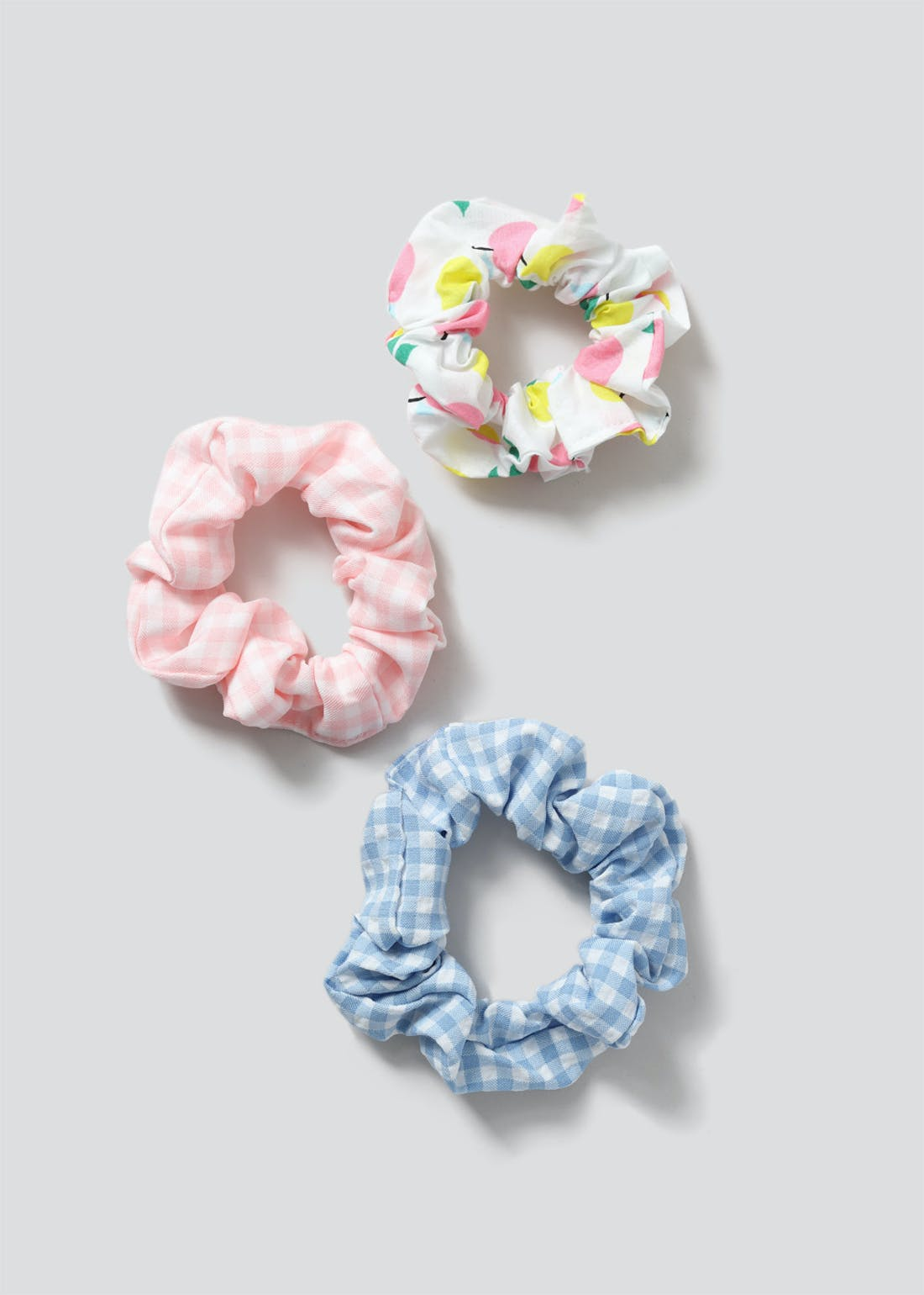 Girls 3 Pack Printed Scrunchies