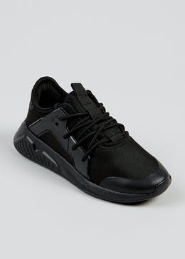 Boys Black Sports Trainers (Younger 10-Older 6)