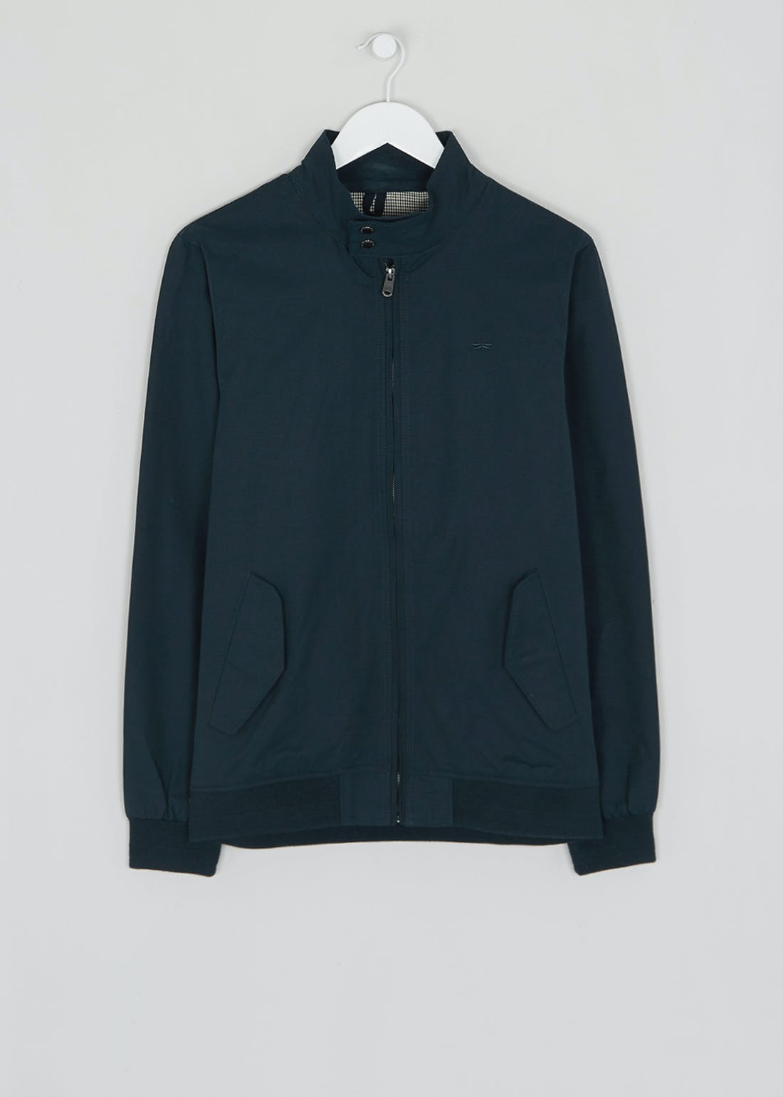 Navy Showerproof Harrington Jacket