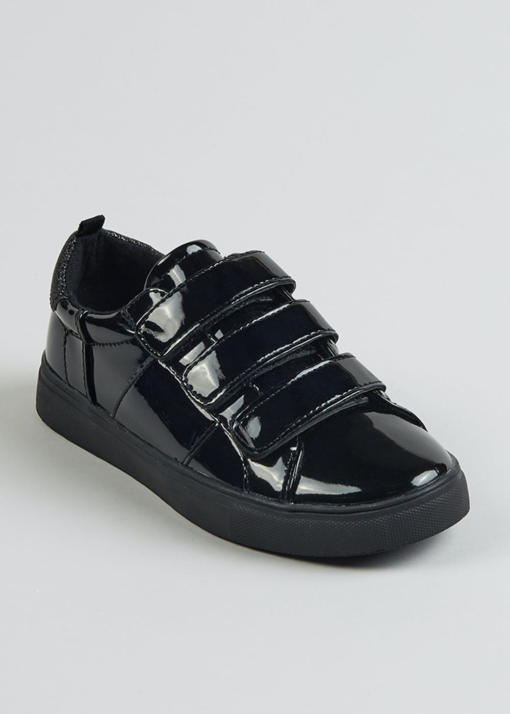 Girls Black Patent Trainers (Younger 10