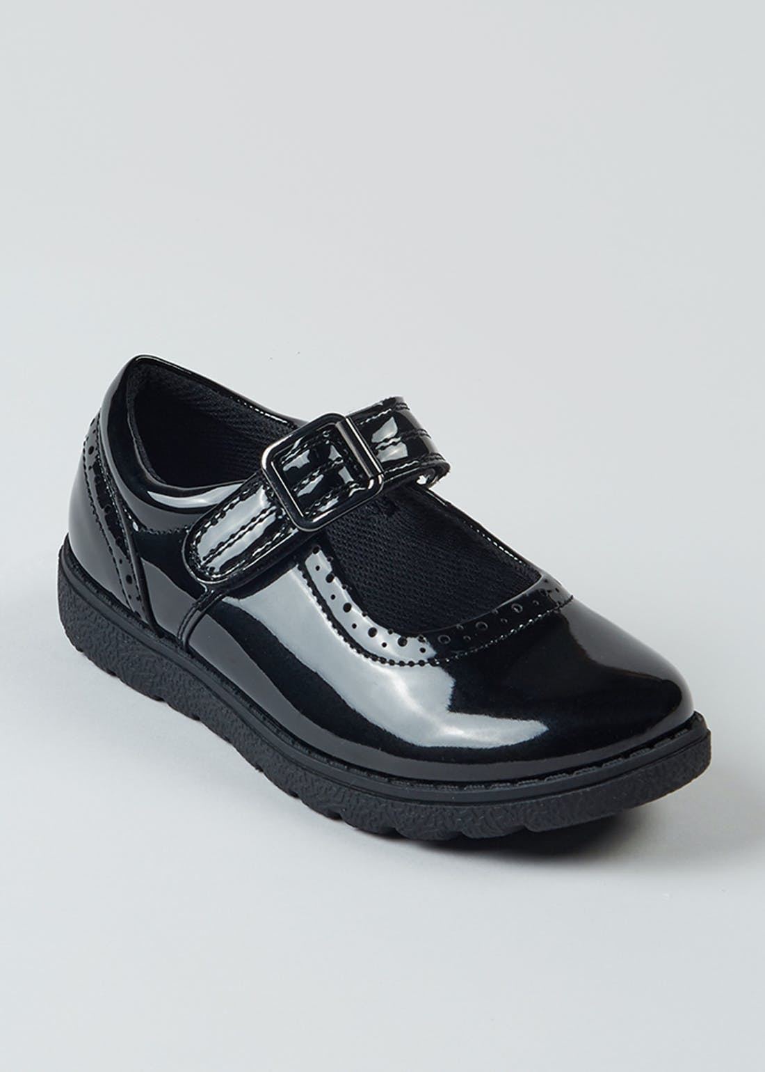 Girls Black Patent School Shoes (Younger 13-Older 5)