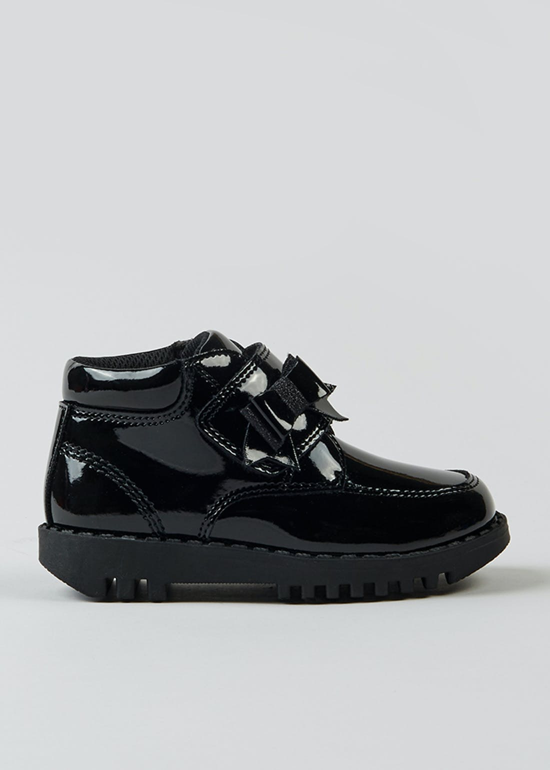 Girls Black Patent Ankle Boots (Younger 7-12)