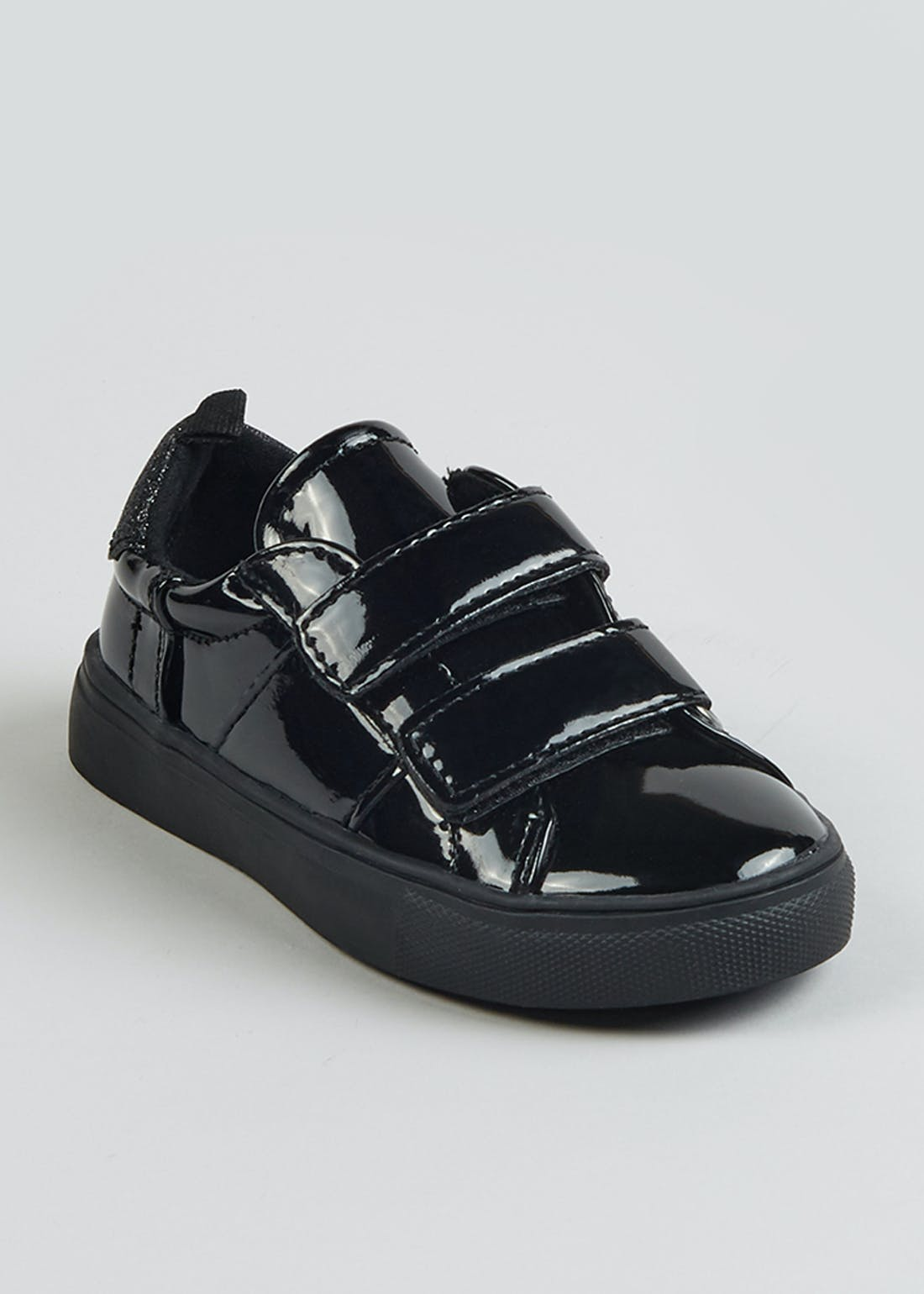 Girls Black Patent Trainers (Younger 5-9)