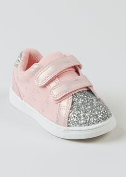 Girls Pink Glitter Trainers (Younger 4-12)