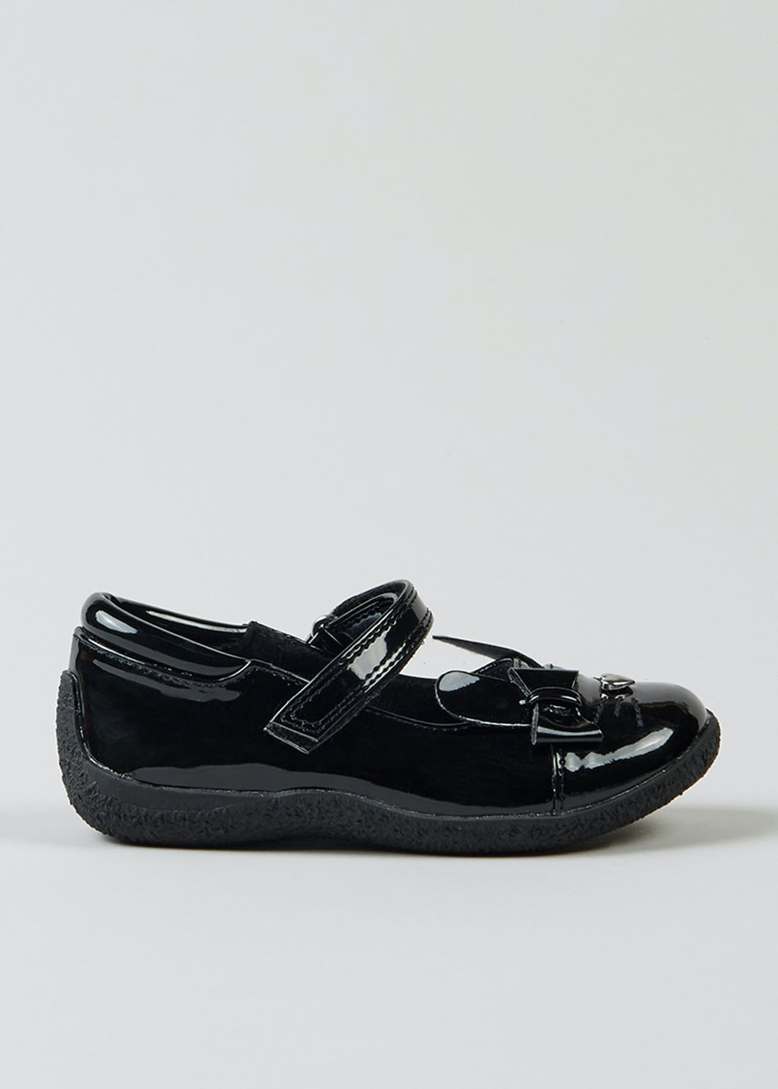 Girls Black Patent Bunny Shoes (Younger 4-12)